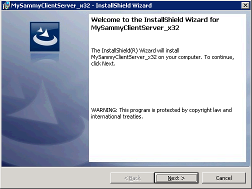 MySammy Server & Client Install Wizard