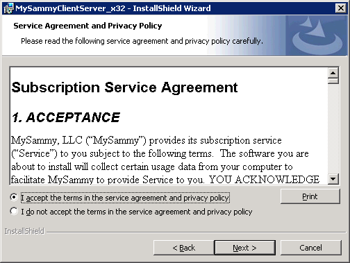 Service Agreement and Privacy Policy