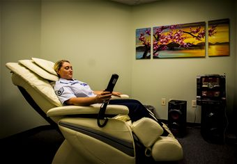workplace relaxation rooms Those who can't make it to the world's most relaxing room might want to try the following 10 techniques to help combat  a relaxation tape,  workplace health.